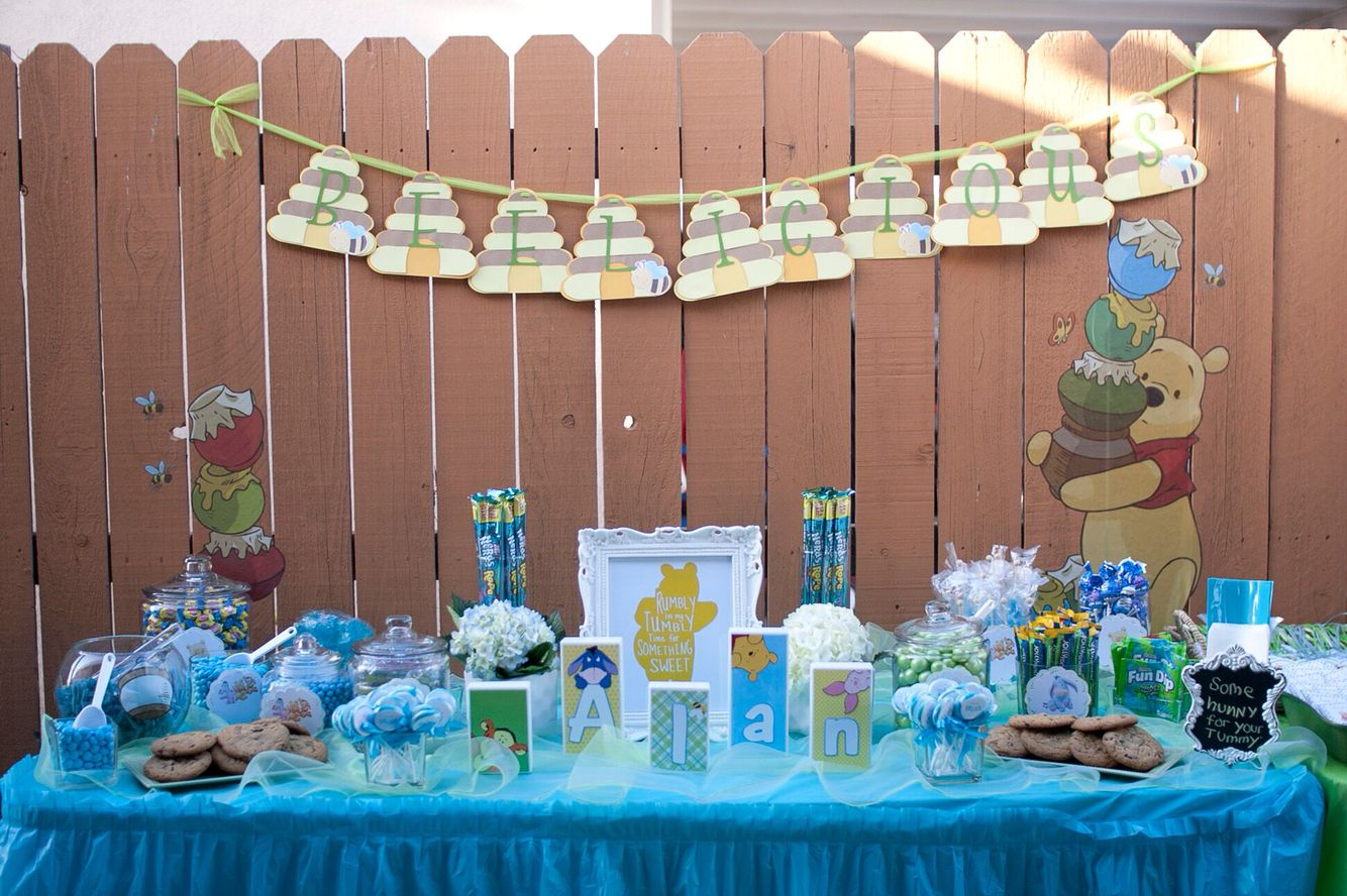 Winnie The Pooh Candy Table Baby Boy Shower Boy Birthday Candy Table