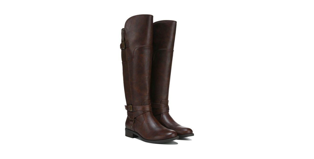 GUESS Hilight Riding Boot Dark Brown