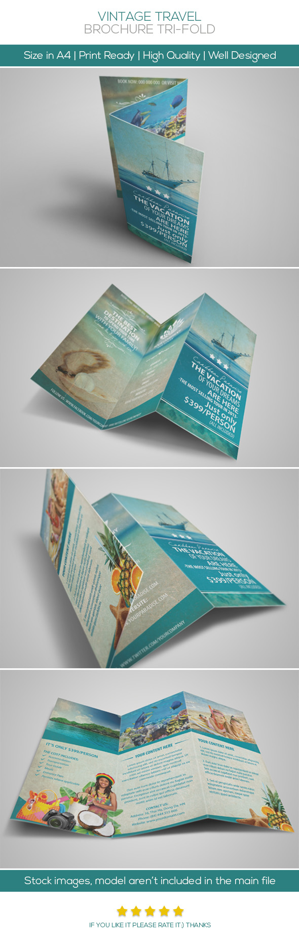 This travel brochure is eye catching and looks like its easy to read