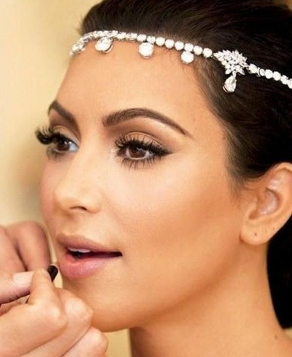 kim kardashian wedding hair accessories rhinestones crystal wedding hair jewelry hair clips bridal hair claws pageant crowns tiaras