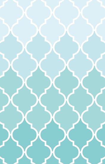 Ombre Moroccan Trellis Latticework Blue White By Sitnica Cute Patterns Wallpaper Flower Phone Wallpaper Cute Pastel Wallpaper