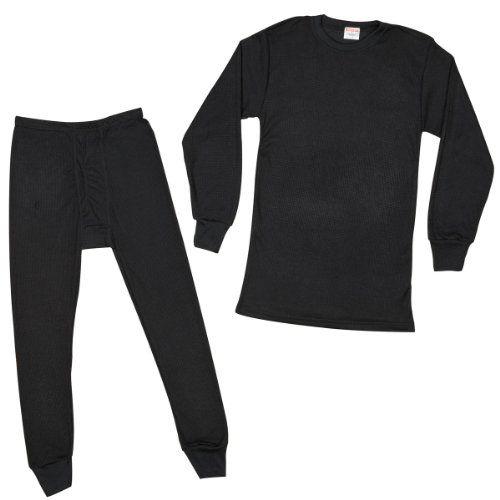 27750f00f652 Rocky Men's Thermal 2pc Set Long John Underwear X-Large Black Rocky http:/