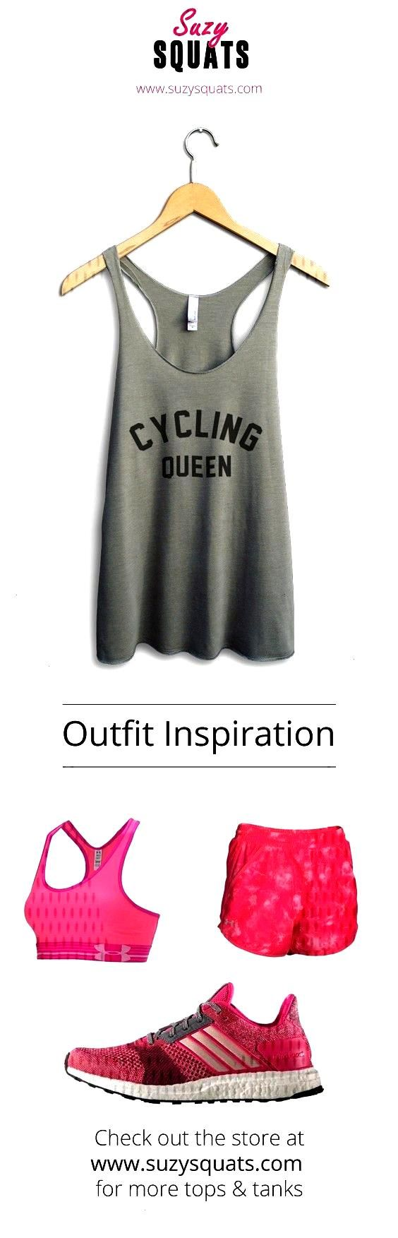 Squats funny cycling tank top, perfect to wear during your next cycle or as a gift for a cyclist fr