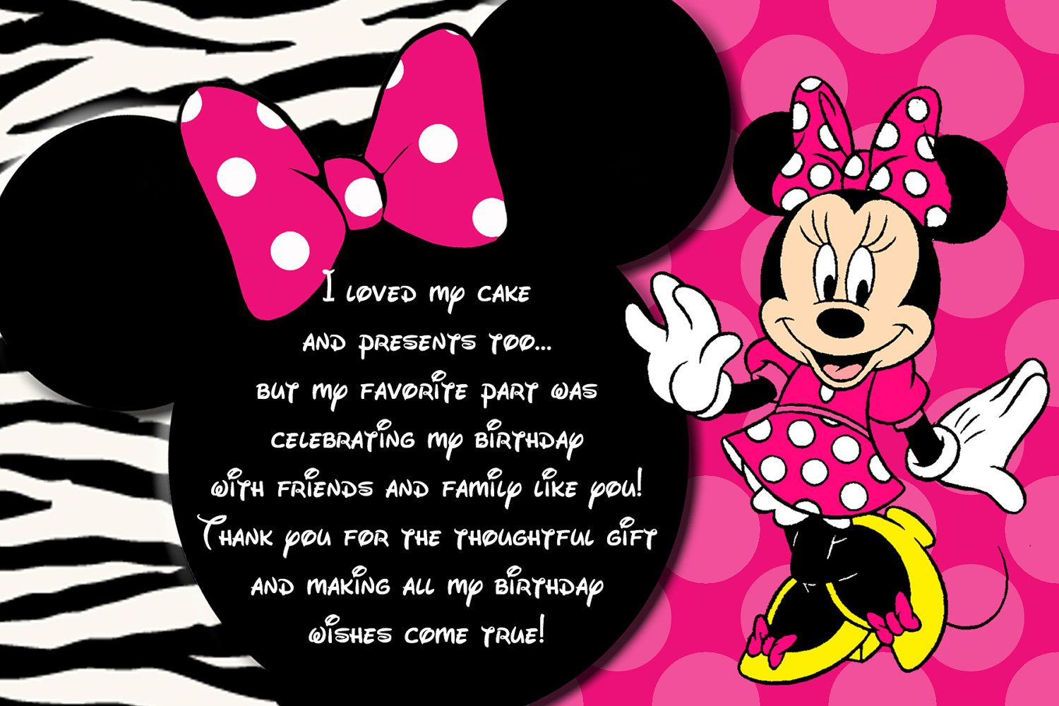 Minnie Mouse Invitation, Minnie Mouse Birthday, Pink Minnie Mouse ...