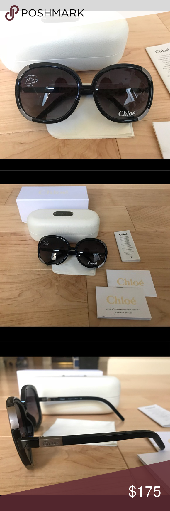 db2491f1b61a BRAND NEW Authentic Chloe Myrte Sunglasses Black Brand New Authentic Chloe  Myrte Sunglasses CL 2119 in