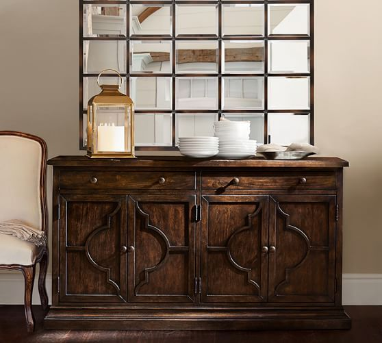 Lorraine Buffet | Pottery Barn   With The Eagan Multipanel Mirror For The Dining  Room