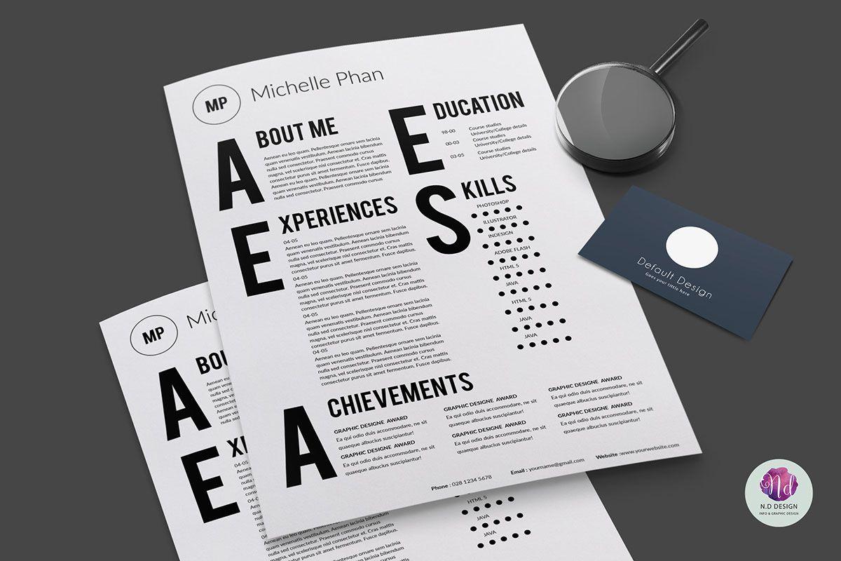 Resume template on Behance | . design | Pinterest