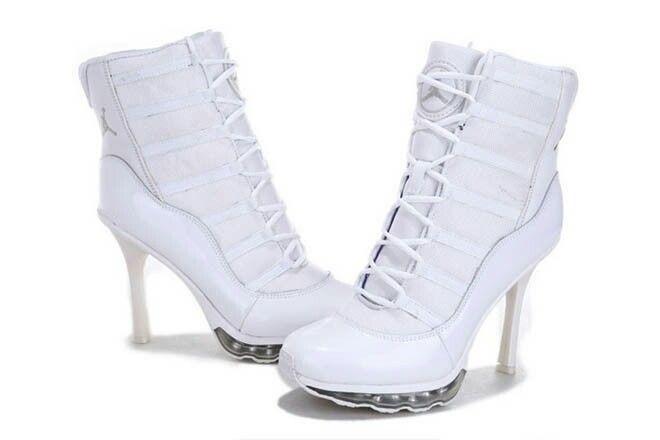 White Nike heels   Trendy high heels