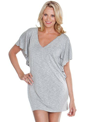 fba32d7766 Dotti Womens Knits Tunic Swim Cover Up Grey M -- To view further for this  item