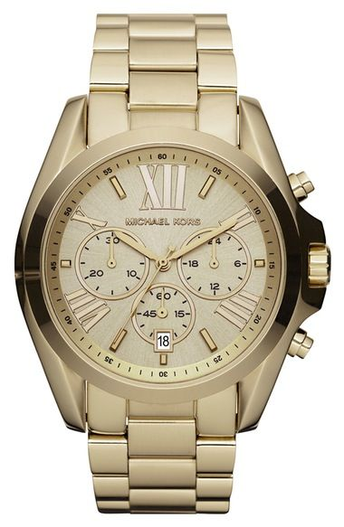 e3662e047 Michael Kors 'Bradshaw' Chronograph Bracelet Watch, 43mm available at  #Nordstrom