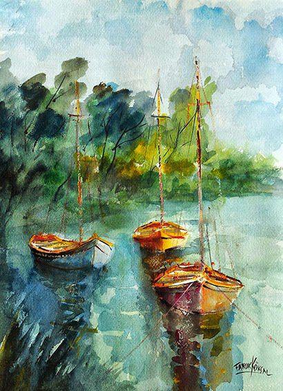 Suluboya Resimlerimin Sergilendigi Bir Blog My Watercolor Paintings Suluboya Resimler Soyut Suluboya Suluboya