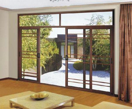 Wood Grain Aluminium Sliding Door Aluminium Sliding Doors