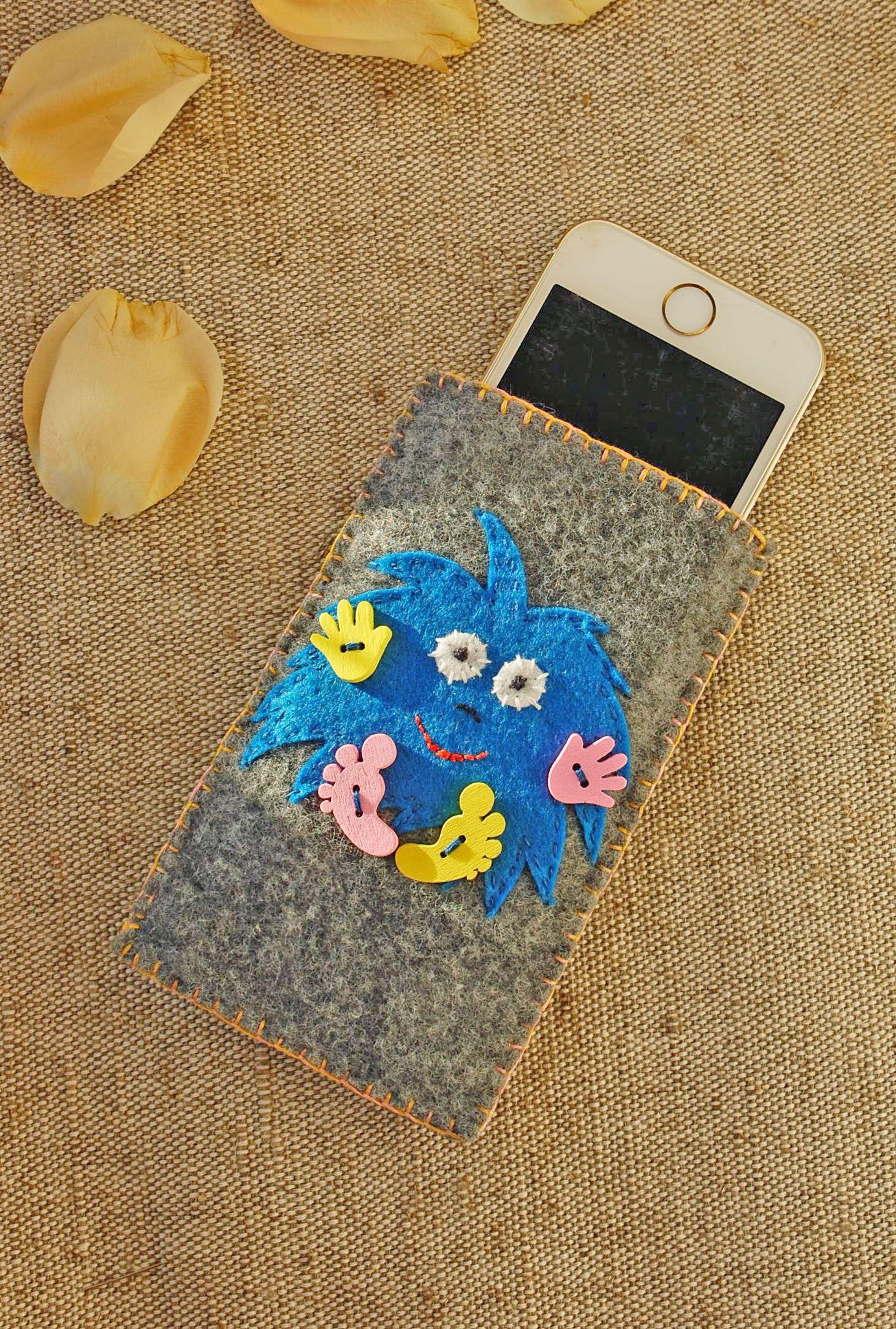 Monster Cell Phone Bag Felt Phone Cover