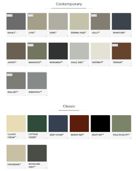 Colourbond Roofing Monument Amp Paperbark Extension External Colour Pinterest Fence Paint Colours Exterior Colors And Fences