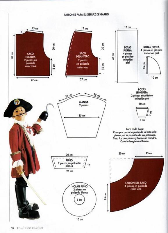 PATRONES DISFRAZ DE GARFIO | Costumes | Pinterest | Disfraces ...