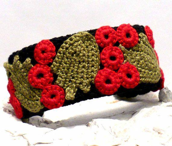Crochet Cuff Bracelet Irish Crochet Bracelet by Nothingbutstring, $45.00