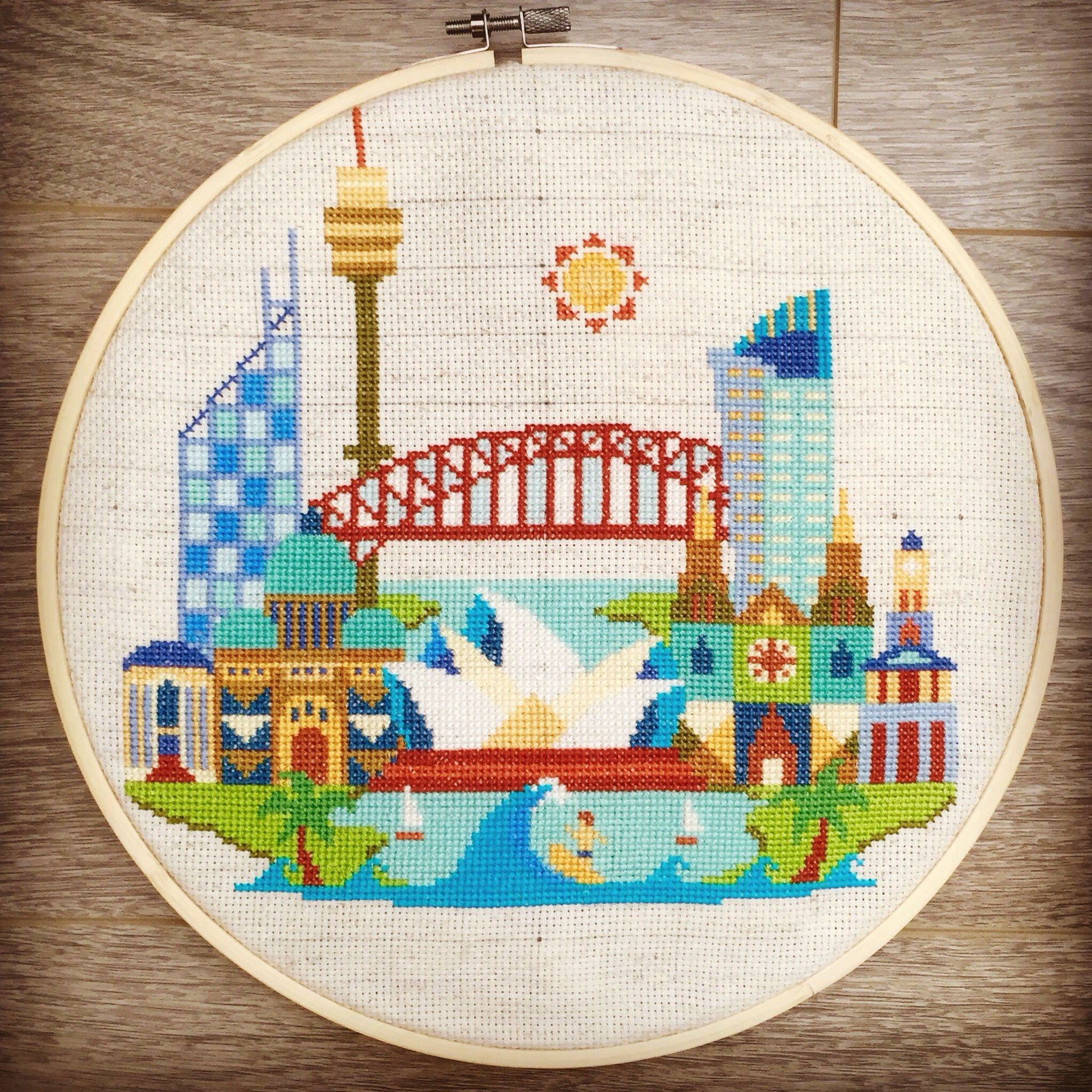 Just Finished My First Cross Stitch Project Pretty Little Sydney
