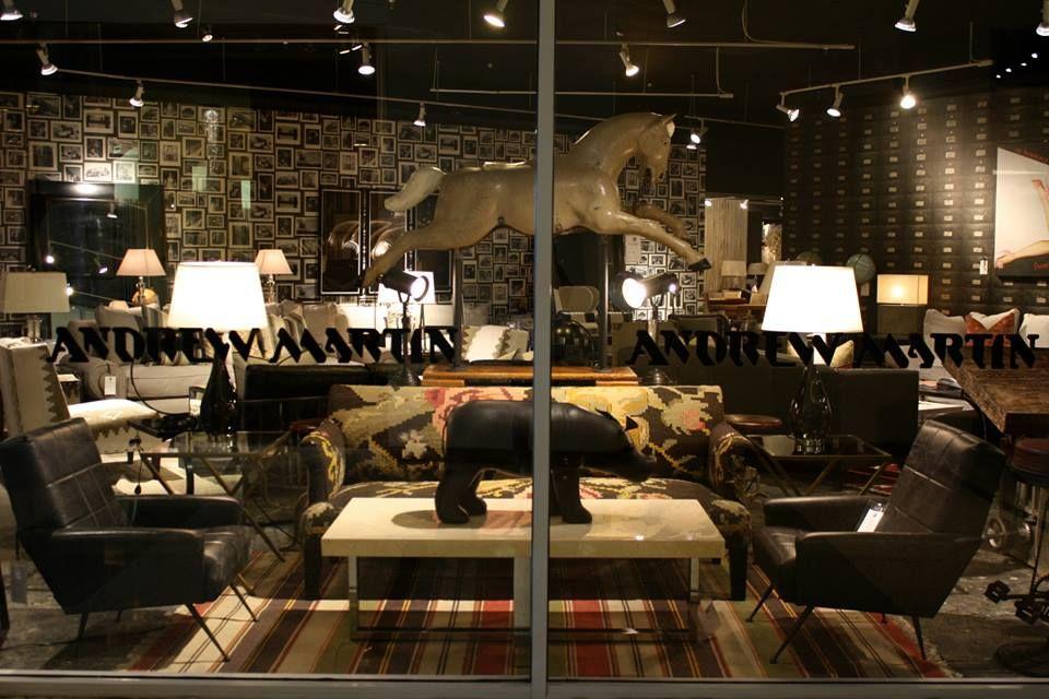 Geronimo Chairs. Aria Coffee Table. Leather Pig. Dehri Kilim Sofa.  #andrewmartin