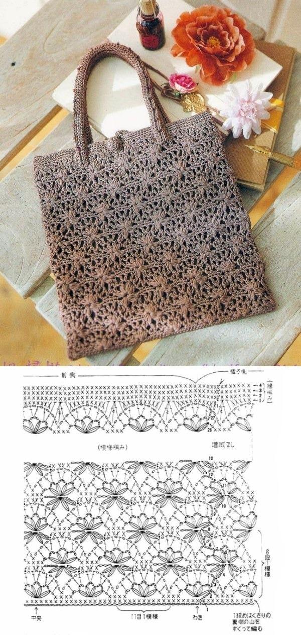 11 Modelos de Bolsa de Crochê com Gráfico do Ponto ⋆ De Frente Para O Mar