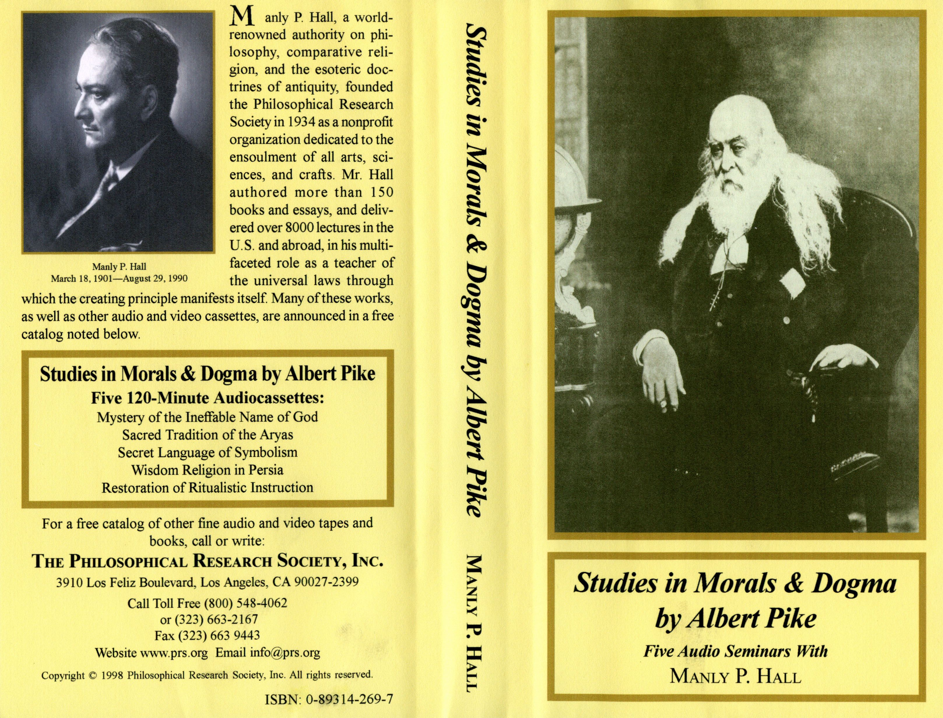 Manly P Hall Stu s in Morals & Dogma by Albert Pike