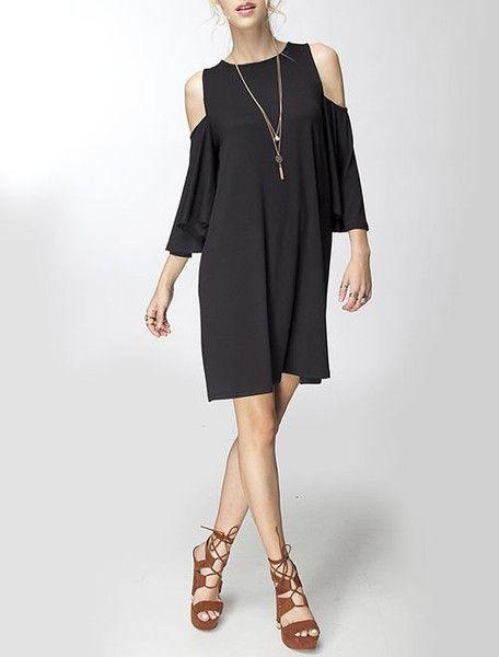 The Cold Shoulder Little Black Dress