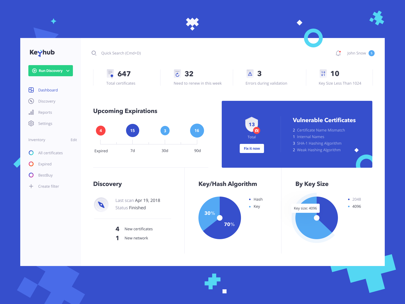 Keyhub Dashboard Web Design Dashboard Design Web App Design