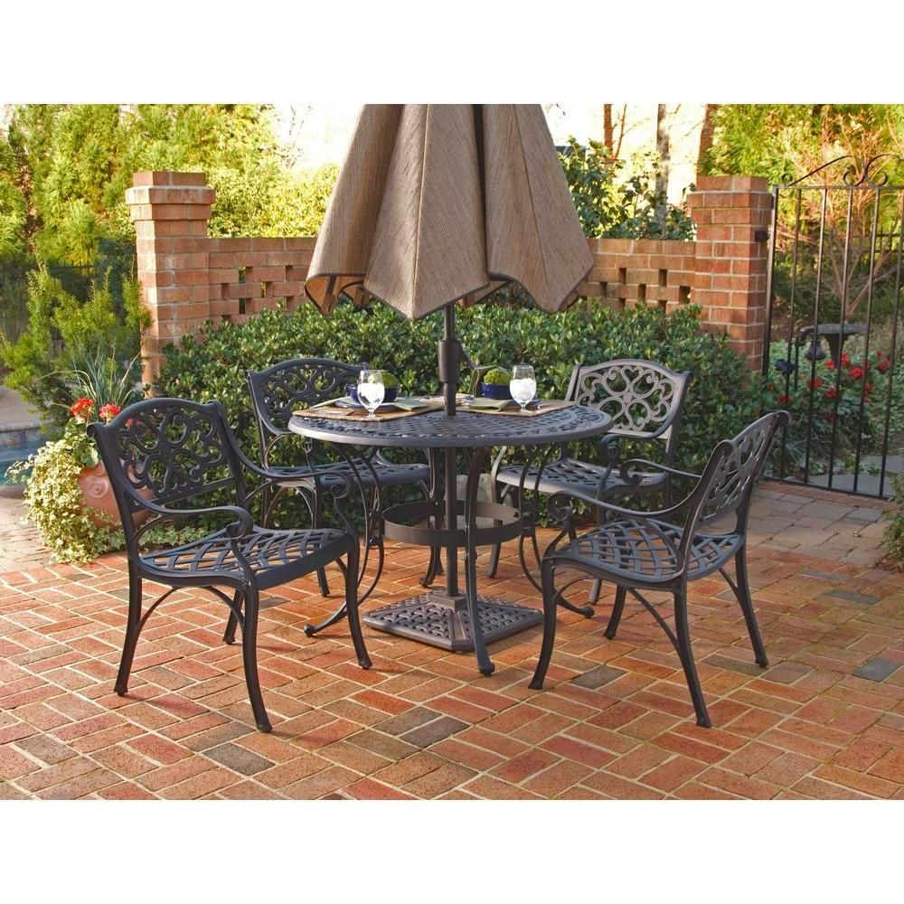 Homestyles Biscayne Black 5 Piece Patio Dining Set Patio Furniture Sets House Styles Patio