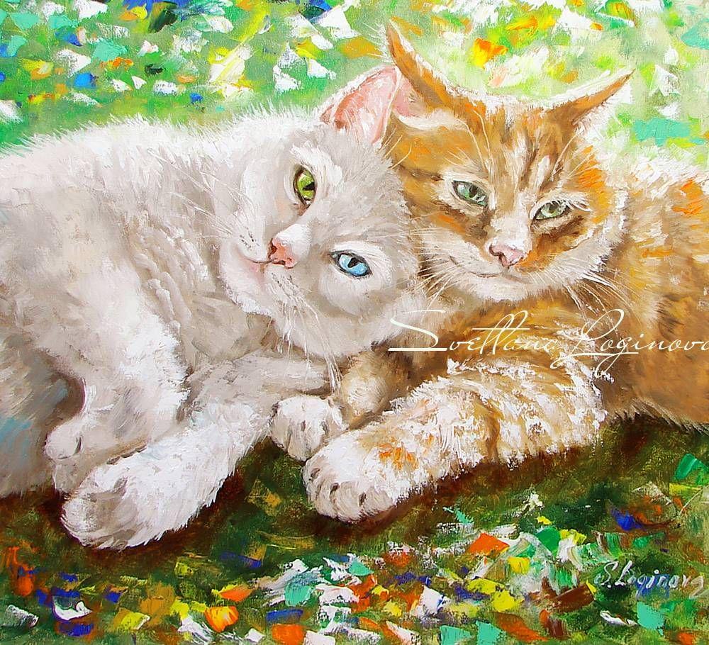 Painting (Picture) : On the sunny meadow. Author Svetlana Loginova