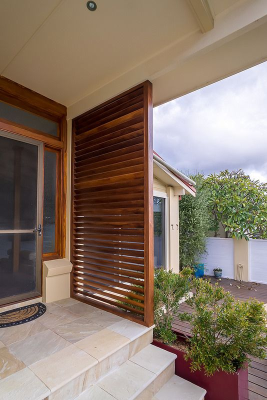Timber Privacy Screens Front Door Modern Front Porches
