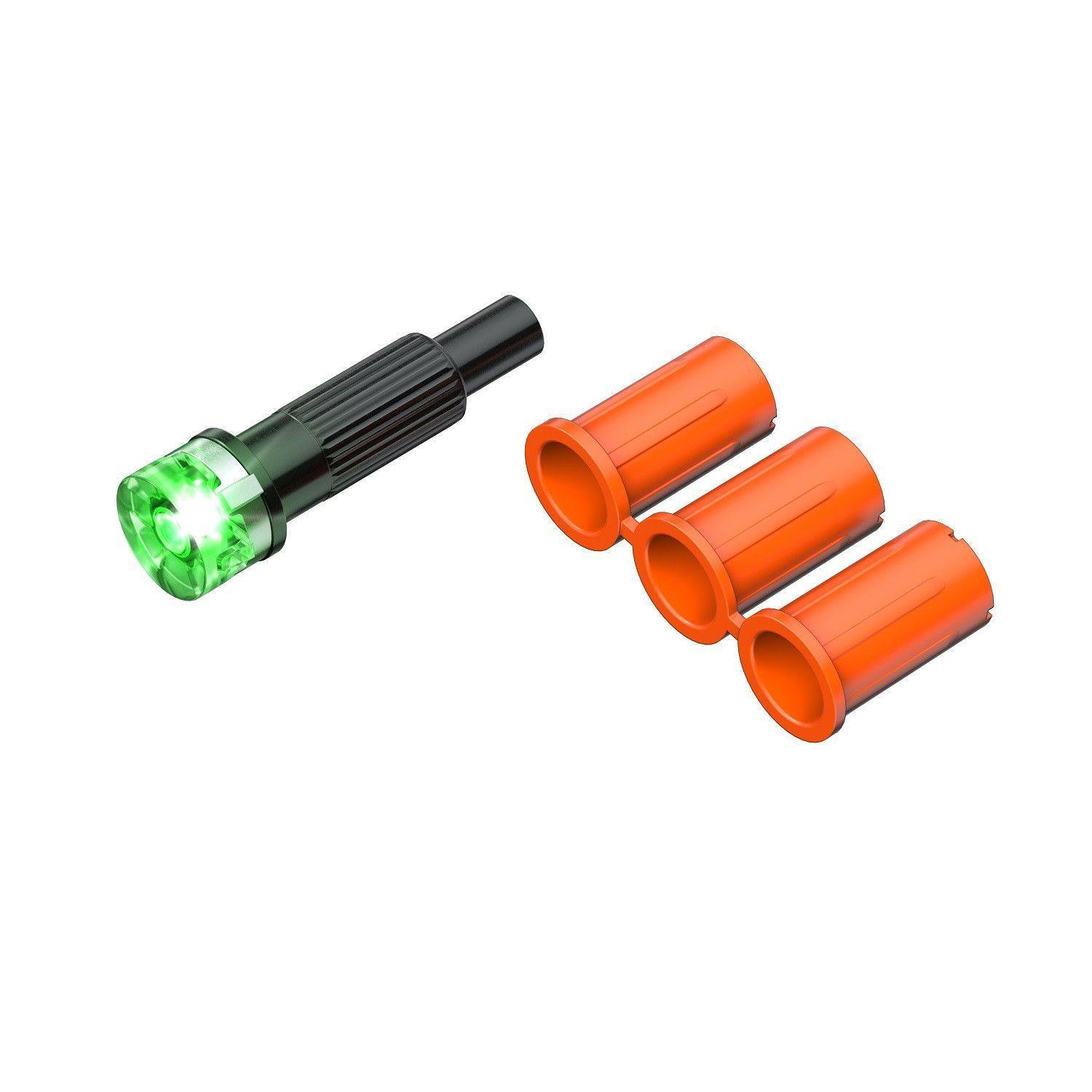 Clean Shot/Nock Out XBOW Lighted Flat Back Nock - Grn 3Pack