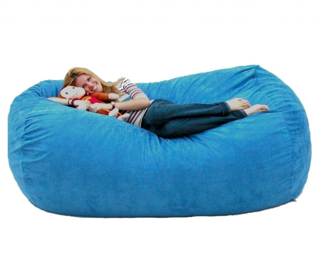 Cozy Sack Feet Bean Bag Chair XLarge Sky Blue Game Room - Cozy chill bag