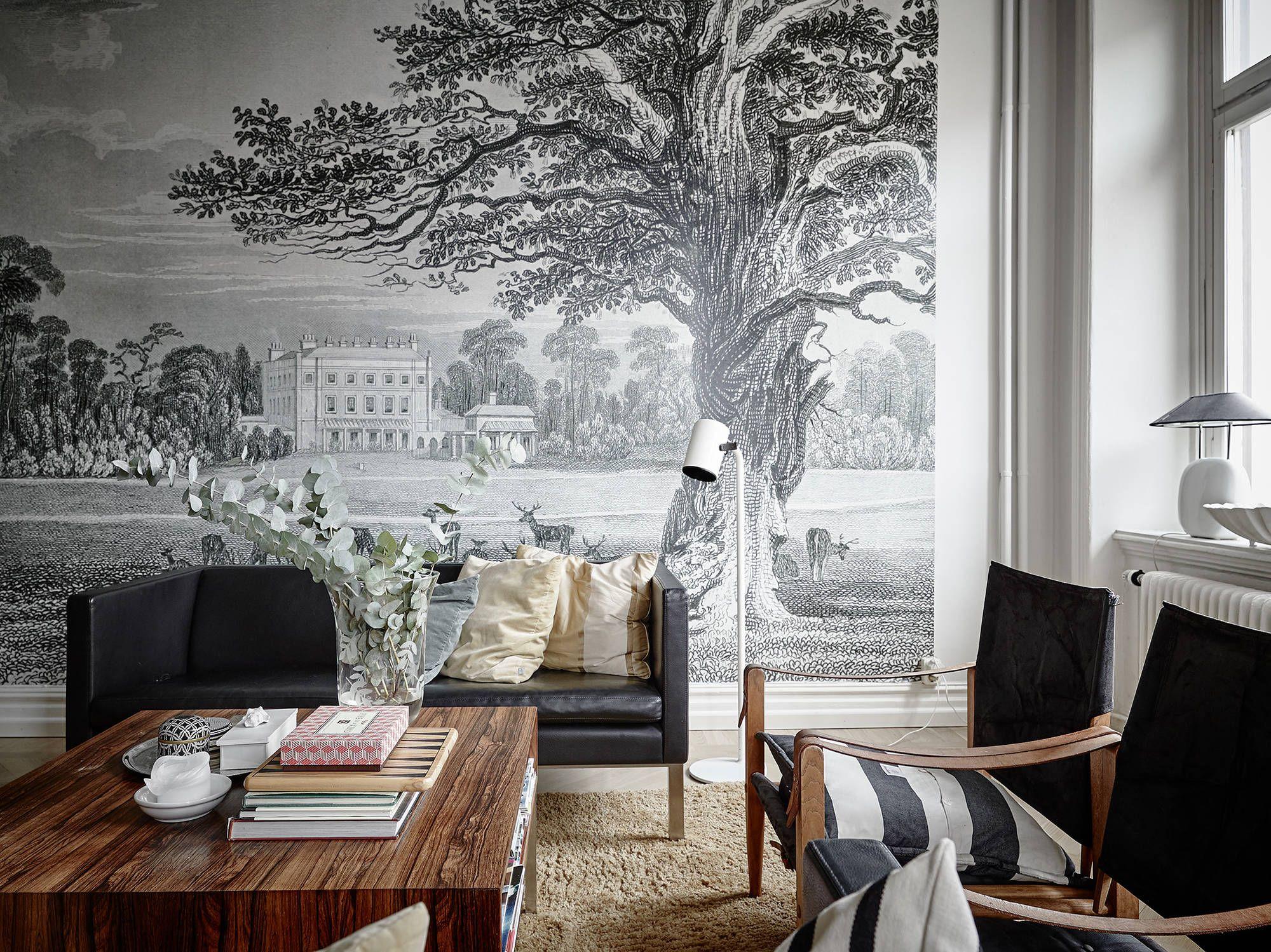 Deze prachtige muurschildering willen wij ook in ons appartement ...