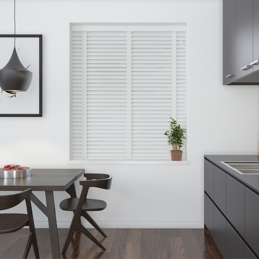 Gloss White 50mm Wooden Venetian Blind Make My Blinds Curtains