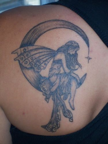 76 Moon Tattoos Designs   m   Fairy tattoo designs, Moon ...
