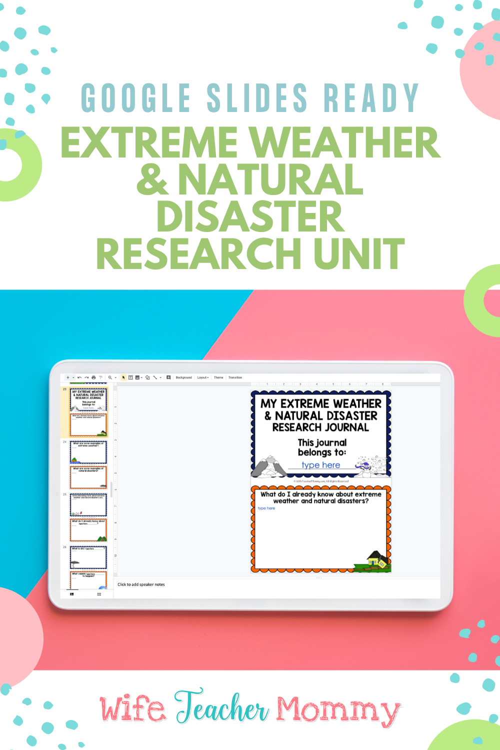 Extreme Weather And Natural Disasters Research Project Google Slides Natural Disasters Extreme Weather Teaching Elementary [ 1500 x 1000 Pixel ]