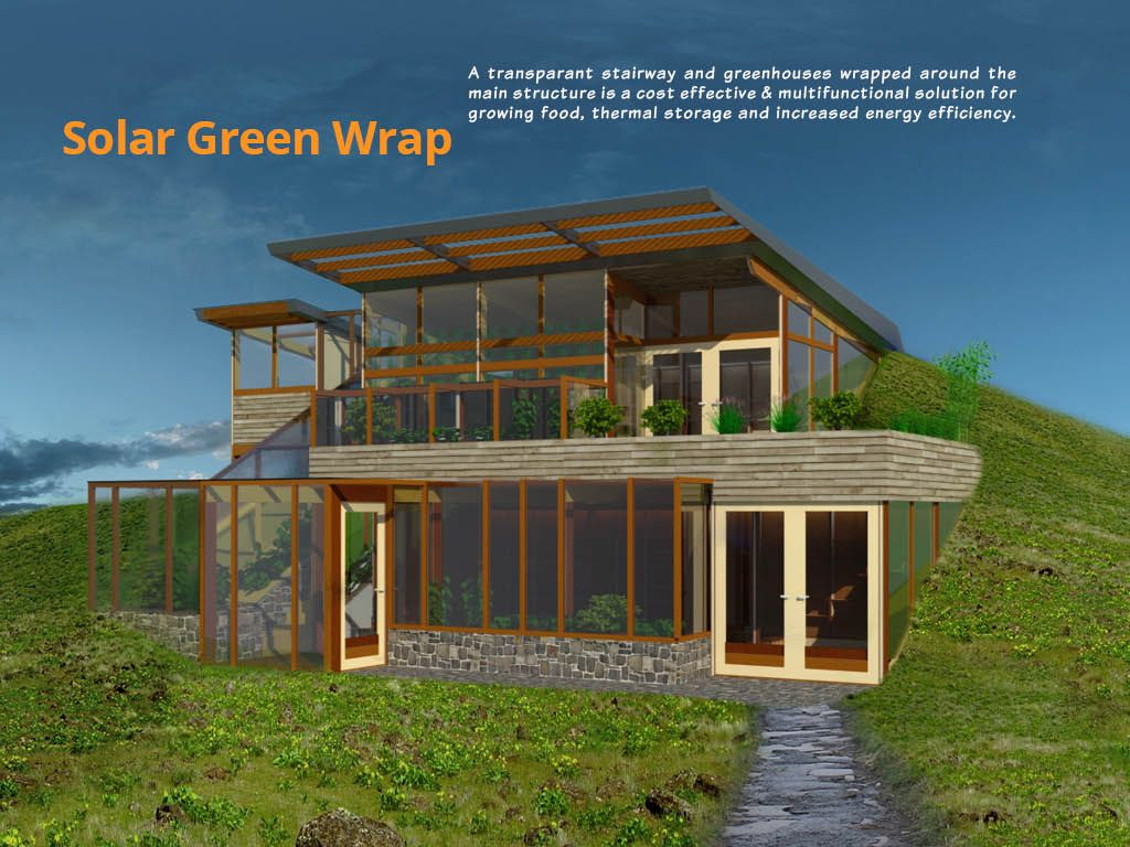 Earth sheltered home with water slimstove homework for Earth sheltered home plans