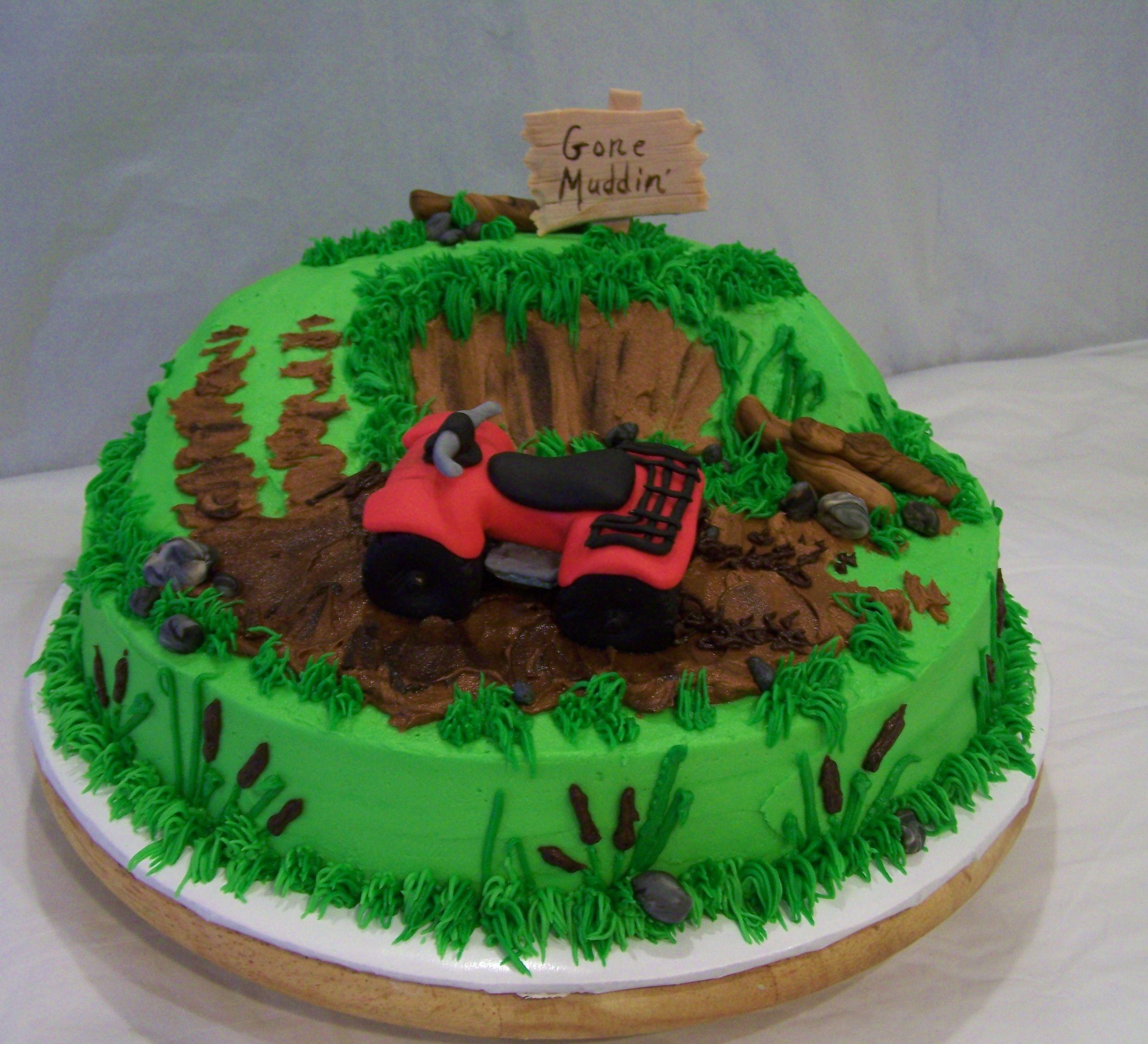 Pleasing Fondant 4 Wheeler Mudding Cake 4 Wheeler Cake Birthday Cakes Funny Birthday Cards Online Aboleapandamsfinfo