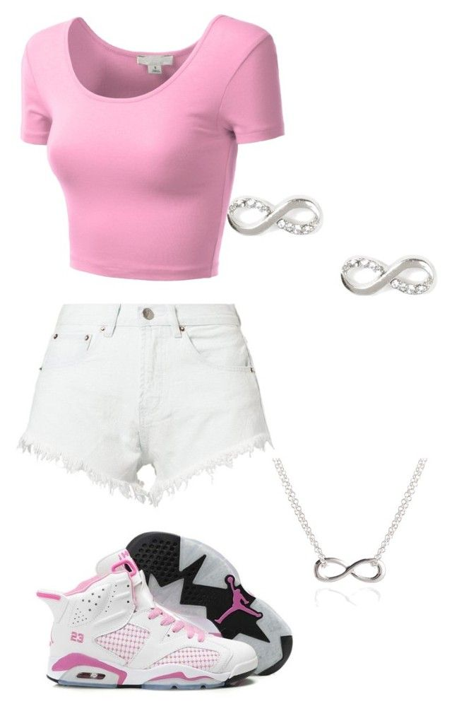 """""""Pink and White"""" by sidney1108 ❤ liked on Polyvore featuring NIKE, Bitching & Junkfood, J.TOMSON and Adina Reyter"""