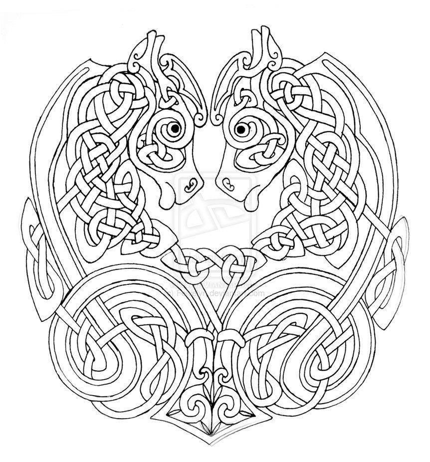 zoomorphic celtic knots - Google Search | celtic knots | Pinterest