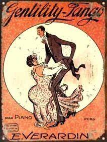 cartel de chapa partitura de tango gentility l717