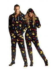 d399644bc3 Pac-Man Hooded Footie Pajamas - Adult onesie