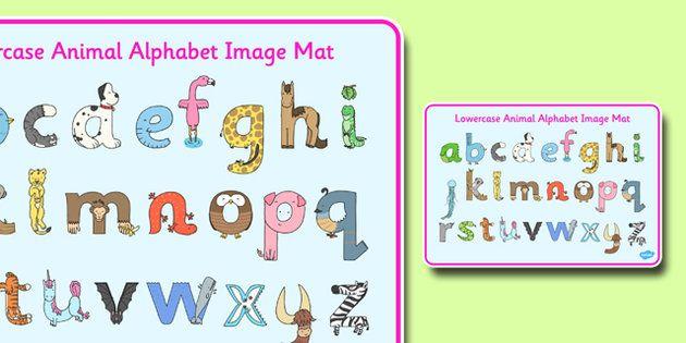 Lower Case Animal Alphabet Image Mat - This simple image mat ...