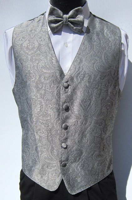 Cruise Tie /& Hankie set Men/'s Paisley Formal Tuxedo Vest Prom Wedding