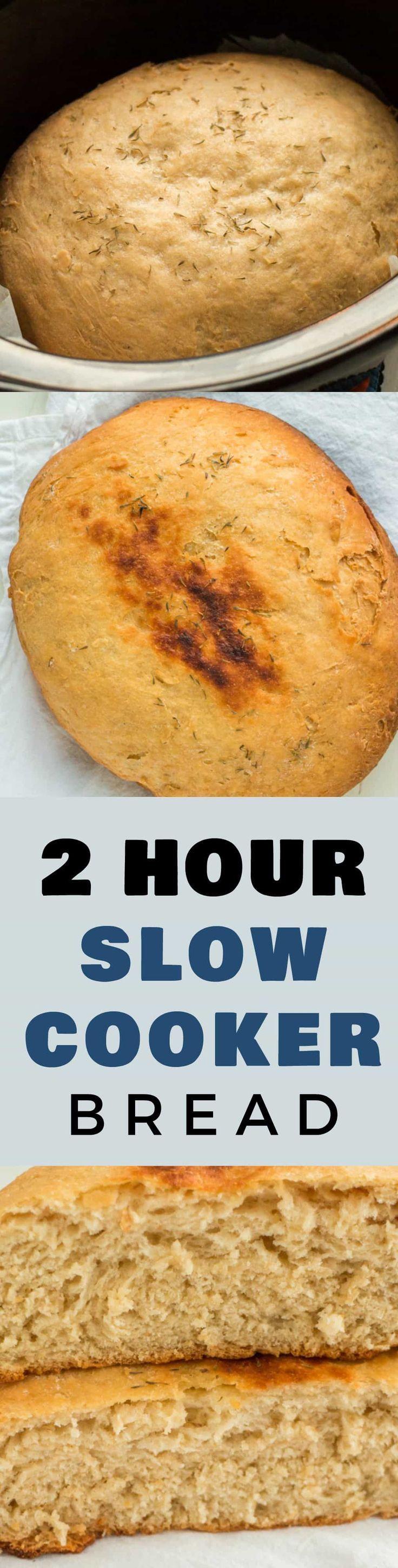 2 HOUR Crockpot Bread
