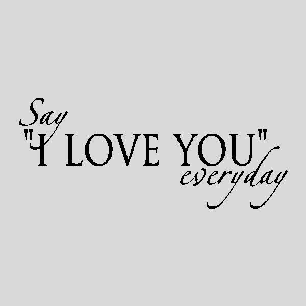 Say I Love You Everydaylove Wall Quotes Words Sayings Removable