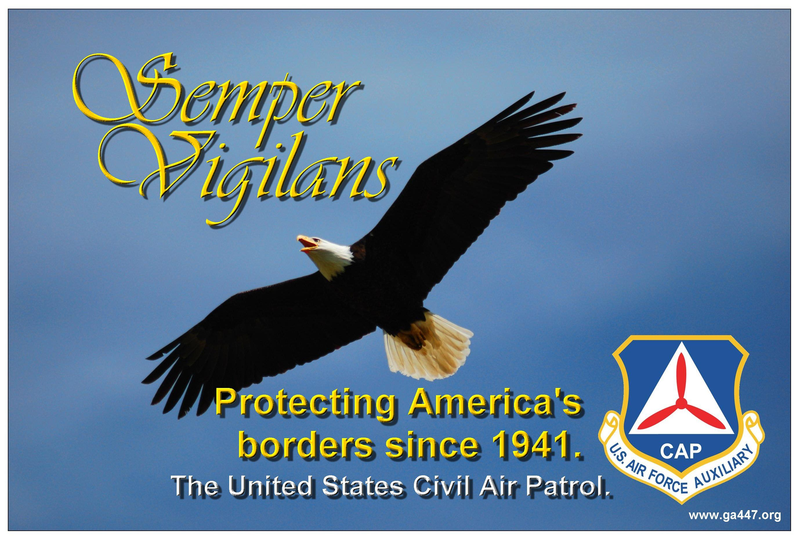 Semper vigilans Civil air patrol, Protect america