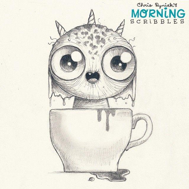 Artist Chris Ryniak Coffee!!!!☕ #morningscribbles | dibujos ...
