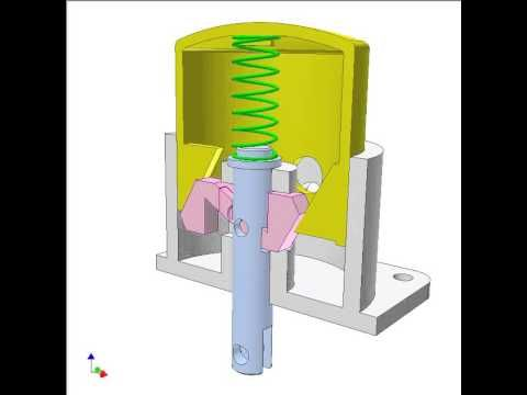 Converting Two Way Linear Motion Into One Way Rotation 4 Youtube Mechanical Design Mechanical Engineering Design Motion