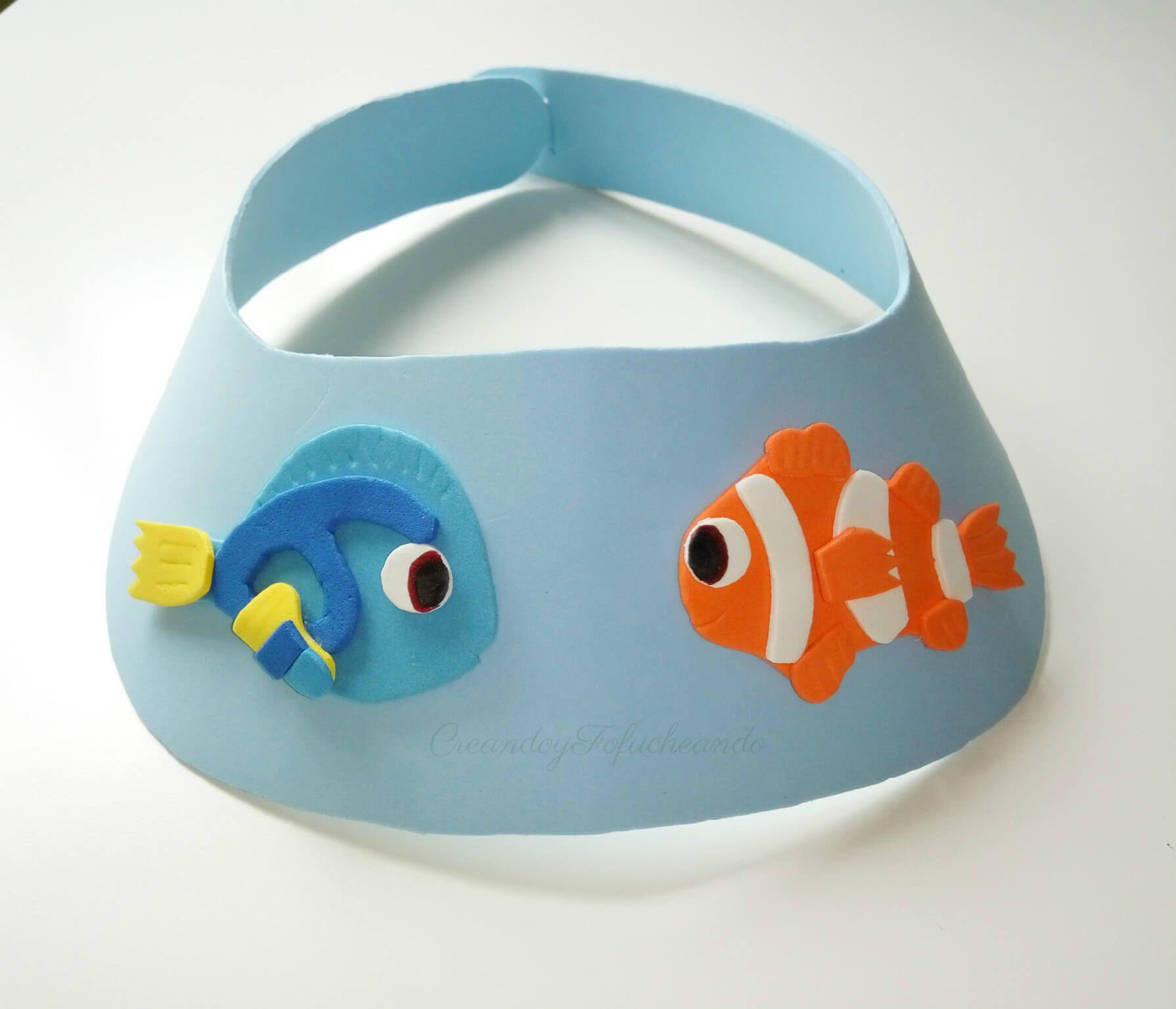 Visera de goma eva con Nemo y Dory  CRAFTY BLOGGERS  Pinterest
