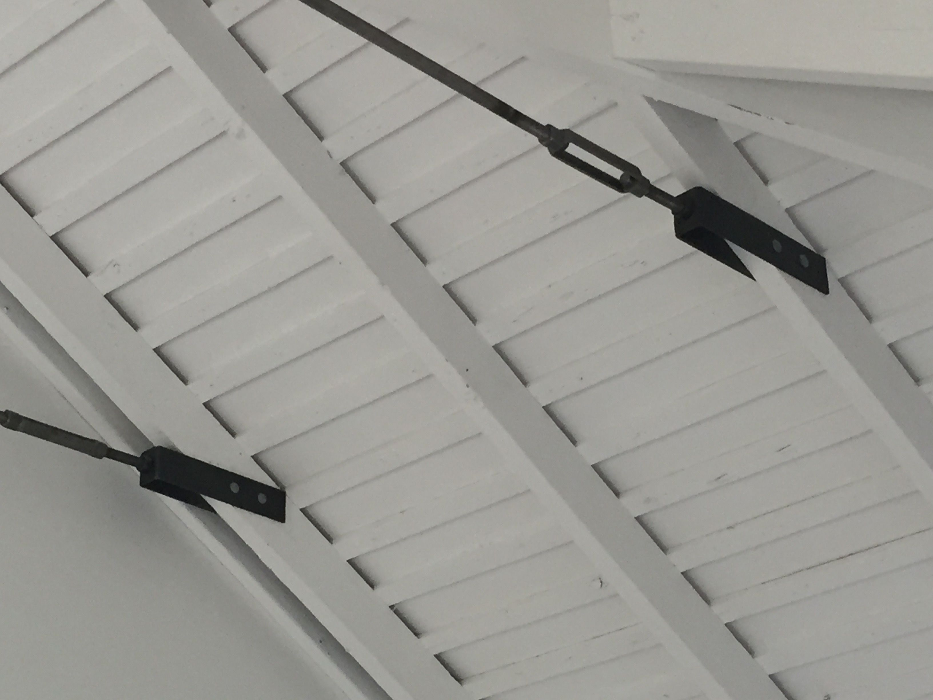 Steel Collar Ties Vaulted Living Rooms Barn Roof Ceiling Detail